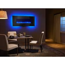 image of wall mounted fireplace ideas in living room