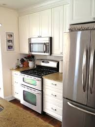 Very Small Kitchen Storage Grey Marble Flooring Tile Also White Ceiling With Recessed Light
