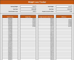 Weight Loss Record Sheet Weight Tracking Template 5 Best Tracker Spreadsheets