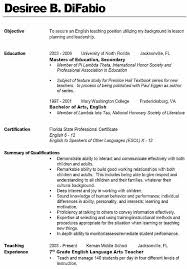 Teacher Example Resume - Template