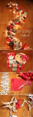 Decorating With Burlap Best 25 Burlap Garland Ideas On Pinterest Rustic Christmas