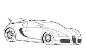 Bugatti Veyron Super Car Coloring Page Free Online Cars Coloring