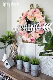 diy spring wreath tutorial idea