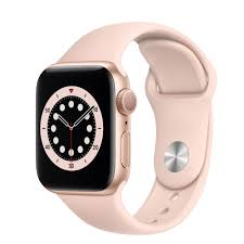 Apple Watch Series 6 GPS, 40mm Gold Aluminium Case with Pink Sand Sport  Band - Regular - Apple (IN)