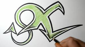 ... Graffiti Letter E Simple Sketch How To Draw Graffiti Letters  X ...