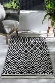 black indoor outdoor recycled rug
