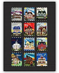 Holiday Houses - Exclusive Quilt by Homespun Hearth - Block of the ... & Holiday Houses - Exclusive Quilt by Homespun Hearth - Block of the Month or  All at Once by Debra Gabel Adamdwight.com