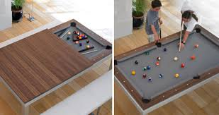 furniture that saves space. fusion dining and pool table furniture that saves space