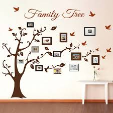 extravagant family tree picture frame wall photo decal decals stickers d cor murals collage art on wall art stickers family tree with stylish inspiration family tree picture frame wall art decals trendy