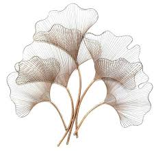 leaf wall decor metal red maple art leaves ginkgo rose gold 640x620 interesting