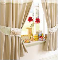 Kitchen Curtains Modern Kitchen Smooth Material Blue Kitchen Curtains With Double Modern