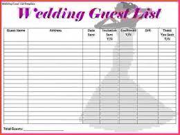 Doc Template For Wedding Guest List 17 Wedding Guest List Templates