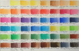 Gansai Tambi Color Chart Watercolours Artdragon86