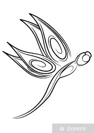 Nálepka Vážka Tetování Pixerstick