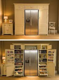 how to build a refrigerator cabinet diy home decor fridge surrounded by pantry how to build