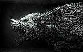 CGI, horror, wolf, fantasy art, roots ...
