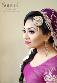 indianbride indianwedding pink bridal makeup look bold lips and black liner stani