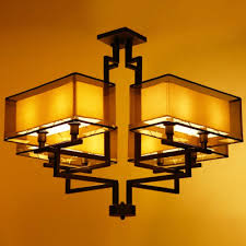 chinese style lighting. New Chinese Style Ceiling Lamp Iron Sitting Room Restaurant Bedroom Simple Lights Lighting