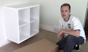 ikea expedit kallax shelf how to assemble and wall mount bookcase you