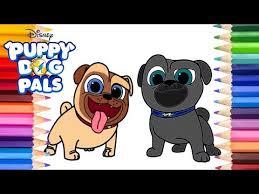 Puppy Dog Pals Bingo And Rolly Coloring Page Disney Junior Puppy