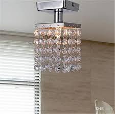 mini semi flush mount in crystal chandelier modern chandeliers ceiling lamp crystal chandelier entrance hallway light