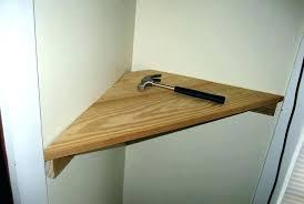 building a corner closet step diy corner closet shelves