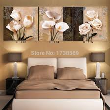 buy 3 panel wall art magnolia flowers oil style painting canvas on 3 panel wall art flowers with buy 3 panel wall art magnolia flowers oil style painting canvas