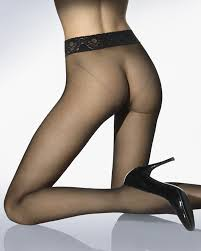 Black seamless pantyhose at