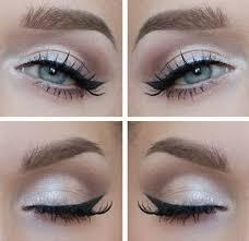 black white dress schminktipps eyes makeup fashion