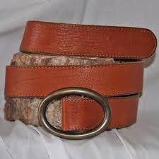 gap leather belt brown womens s 1½ wide heavy brass oval buckle for