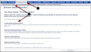 What Is A Purchase Order Number 3pl Central Help