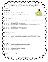 Persuasive Essay Rubric 2 Rubrics Provide Kids With Clear Expectations See The Blog Post For