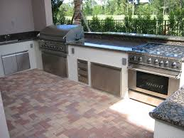Outdoor Kitchen Gas Grill Furniture Natural Stone Kitchen Cabinet With Marble Countertop