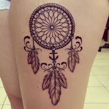 Dream Catcher Tattoo On Thigh 100 Dreamcatcher Tattoo Designs Ideas Design Trends Premium 49