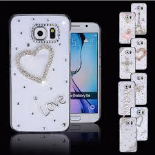 samsung galaxy s6 phone cases for girls. samsung galaxy s7 3d clear bling crystal rhinestone case cover for s6/s7 s6 phone cases girls d