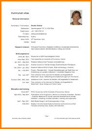 Examples Of Resumes Simple Curriculum Vitae Sample Format Within