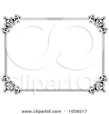 white certificate frame document frames clipart
