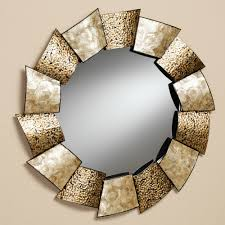 beautiful rounded art work wall mirrors for inspiring living room wall decors ideas