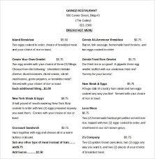 breakfast menu template word menu template smart screenshoot breakfast templates helendearest