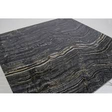 Worlds Away Neal Gold Leafed Coffee Table With Black Marble Top