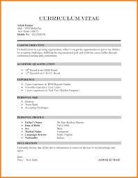 8 Formal Cv Format Pdf Mael Modern Decor