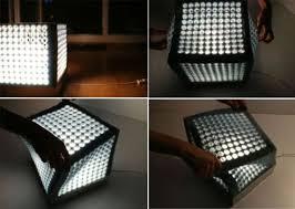 Shape Shifting Cube Lamp by Ewa Garniec