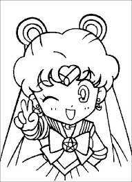 Small Picture Cute Sailormoon Coloring Pages For Girls Boys pages of