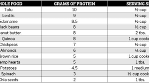 Protein In Seeds Chart 13 Sources Of Vegan Protein Experience Life