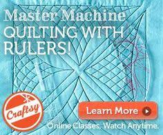 Learn to use rulers to guide free motion quilting! Great class ... & Discount link for Quilting with Rulers on a Home Machine. Adamdwight.com