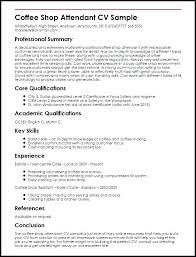 Barista Resume Amazing Barista Resume Sample No Experience Thaihearttalk Resume Ideas