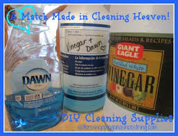 cleaning dream team vinegar and dawn