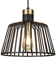 crosby collection large pendant light. Bird Cage 1 Light Large Pendant Ceiling Black Gold 9411bk Crosby Collection