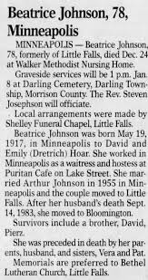 Obituary for Beatrice Johnson (Aged 78) - Newspapers.com