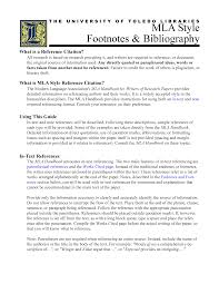 Mla Style Footnotes And Bibliography How To Create A Mla Style